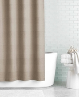"Hotel Collection 72"" x 84"" Extra Long Waffle-Knit Shower Curtain"