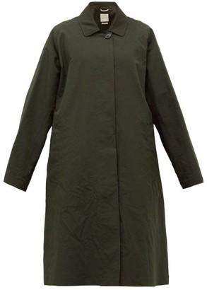 Zanini - Oversized Crinkle Cotton-blend Coat - Green
