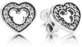 Pandora 290579CZ Disney Earrings - Mickey Silhouette