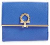 Salvatore Ferragamo Women's Saffiano Calfskin Leather Wallet - Black