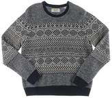 Original Penguin Men's Long Sleeve Lambswool Nylon Fairisle Crew