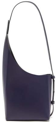 Aesther Ekme - Demi Lune Leather Shoulder Bag - Womens - Navy
