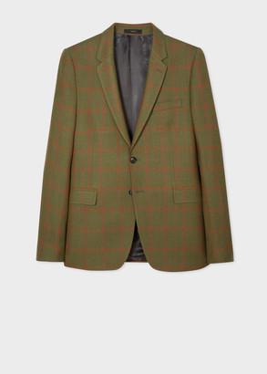 Paul Smith Men's Slim-Fit Khaki Check Two-Button Wool Blazer