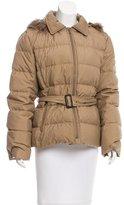 Burberry Fur-Trimmed Puffer Jacket