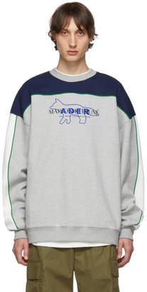 MAISON KITSUNÉ Grey ADER error Edition Layout Sweatshirt