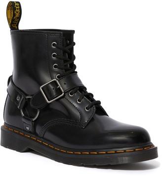 Dr. Martens 1460 Harness Ankle Boots - Black