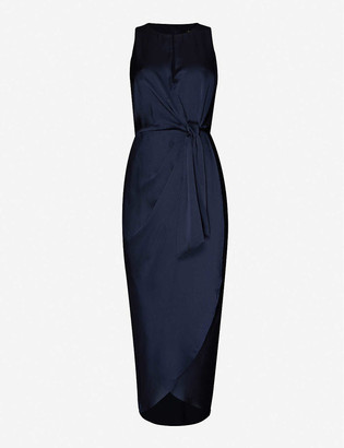 Ted Baker Sleeveless satin midi dress