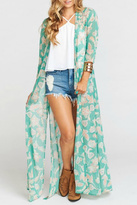 Show Me Your Mumu Long Paisley Cape