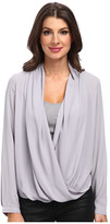 NYDJ Drape Front Blouse with Fit Solution Tank