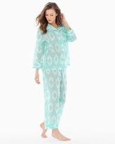 Soma Intimates Batik Cotton Pajama Set Seafoam