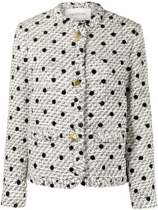 Valentino Roman Stud polka-dot tweed jacket