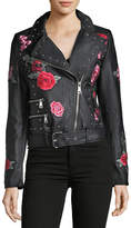 Bagatelle Romantic Grunge Faux-Leather Moto Jacket