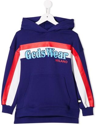 Gcds Kids Printed Hooded Sweatshirt