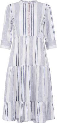 Dream Short Blue Striped Dress - Medium
