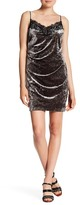ABS by Allen Schwartz Stretch Crushed Velvet Slip Dress