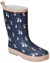 John Lewis Children's Bunny Rabbit Wellington Boots, Navy