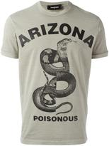 DSQUARED2 Arizona poisonous snake T-shirt