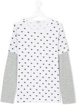 Kenzo eye patterned layered T-shirt - kids - Cotton/Polyester - 14 yrs