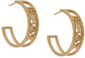 Rachel Jackson Behave hoop earrings