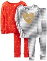 Carter's Little Girls' Piece Striped PJ Set (Toddler/Kid)