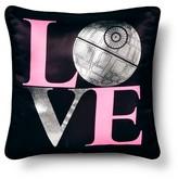 "Disney Star Wars® Classic Girl Death Star Love Decorative Pillow 16""X16"" - Black"