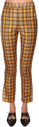 Rosie Assoulin HIGH WAIST TARTAN PLAID PANTS
