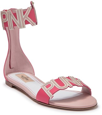Valentino Pink Punk Leather Sandal