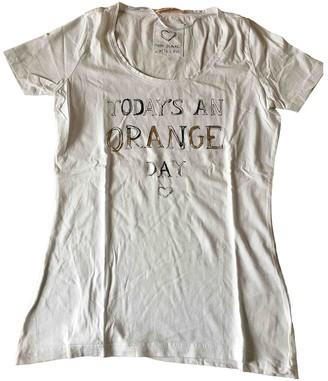 BOSS ORANGE White Cotton Top for Women