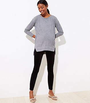 LOFT Petite Maternity Velvet Skinny Pants