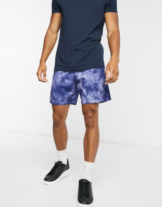 Levi's lightweight walk shorts in blue tie dye