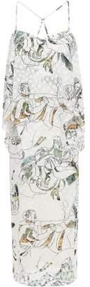 Chalayan Printed Fil Coupe Midi Dress