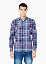 Mango Outlet Slim-Fit Check Shirt