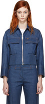 Emilio Pucci Blue Front Zip Denim Jacket