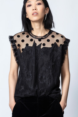 Zadig & Voltaire Tetro Lace Top