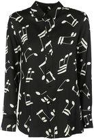 Saint Laurent Shirt In Musical Note Printed