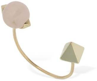 Peruffo Pierced Open Rose Quartz Ring