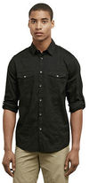 Kenneth Cole Long Sleeve Stretch Military Shirt