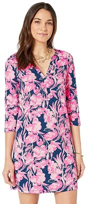 Lilly Pulitzer Daphne Dress (Inky Navy Flamingle) Women's Dress