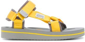 Suicoke Open Toe Contrast Stripe Sandals