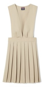 French Toast Big Girls V-Neck Pleated Jumper