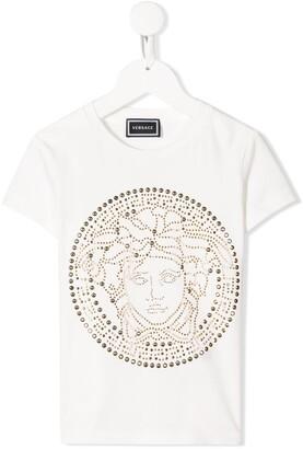 Versace Kids Medusa logo print T-shirt