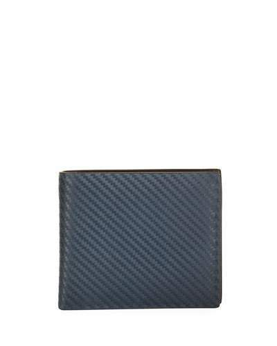 Dunhill Chassis Leather Billfold Wallet, Navy