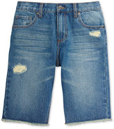 Epic Threads Little Boys' Frayed Destructed Denim Shorts, Only at Macy's