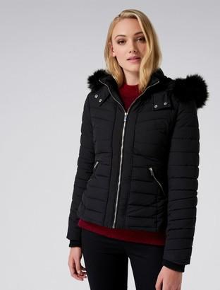 Forever New Hayley Puffa coat - Black - 6