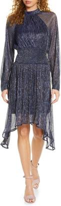 Foxiedox Tazanna Shimmer Stripe Long Sleeve Cocktail Dress