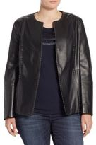 Marina Rinaldi, Plus Size Eden Nappa Leather Jacket