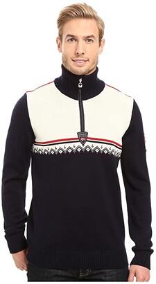 Dale of Norway Lahti Sweater (Navy/Raspberry) Men's Sweater