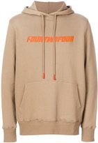 424 Fairfax - front print hoodie - men - Cotton - S