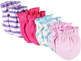 "Luvable Friends Dots & Stripes"" 4-Pack Scratch Mittens"