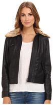 Free People Vegan Aviator Jacket